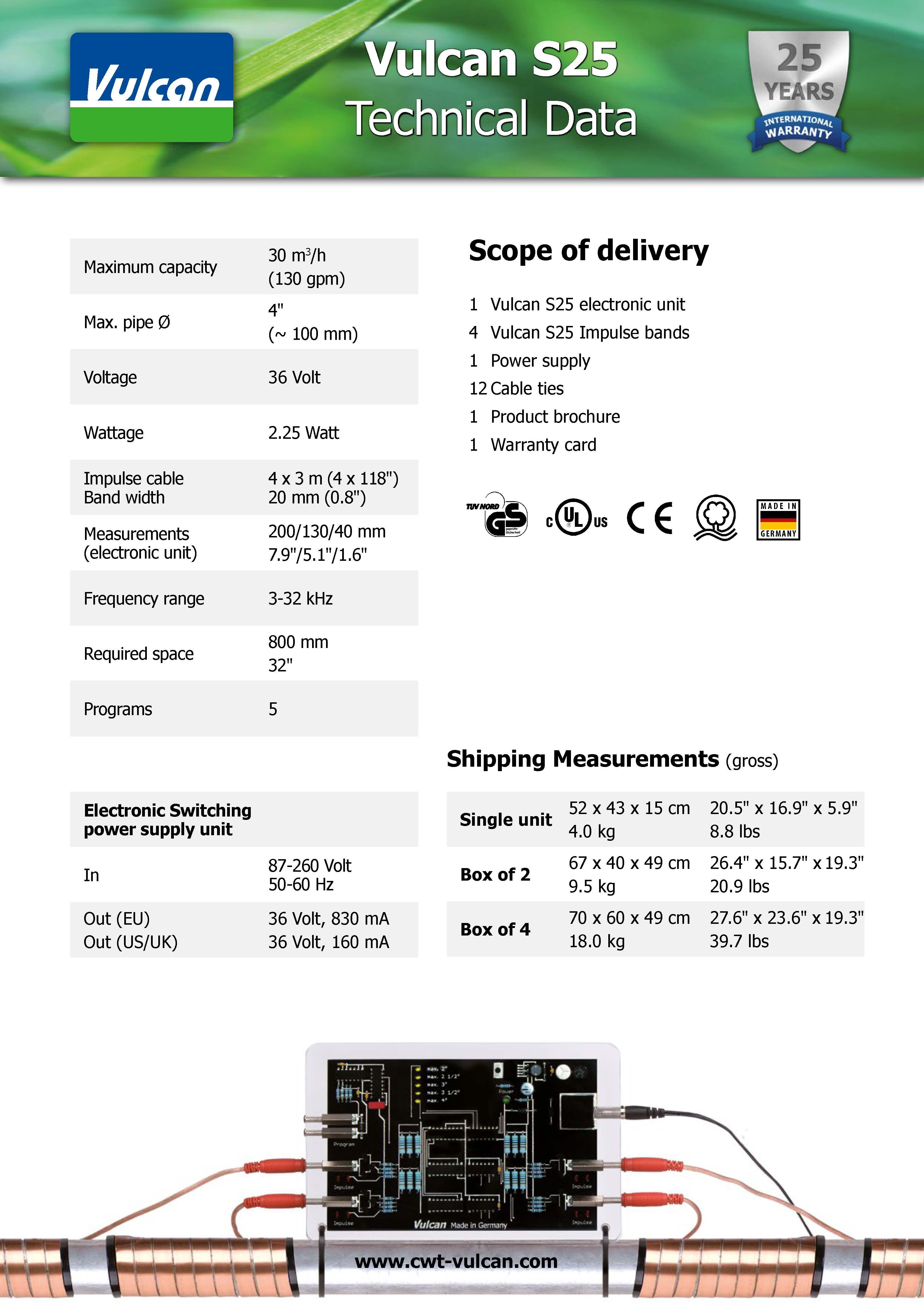 Vulcan Data Sheet